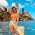 Lorena Improta percebeu mudanças nos seios por conta da gestação