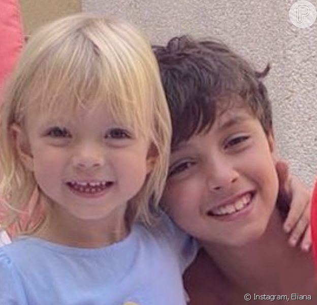 Filhos de Eliana chamaram atenção pelo tamanho em foto: 'Enormes!'