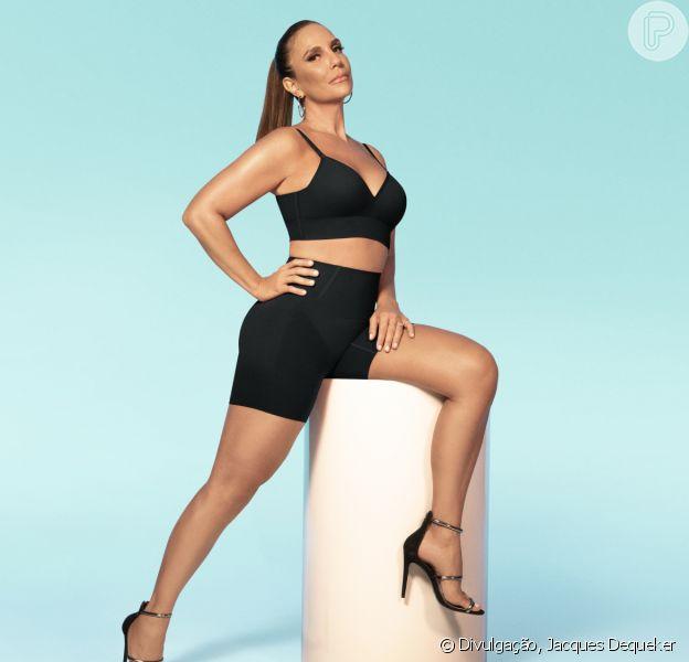 Ivete Sangalo posa para campanha de lingerie da Plié