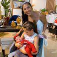 Irmã de Simone, Simaria conheceu sobrinha, Zaya, no final de março