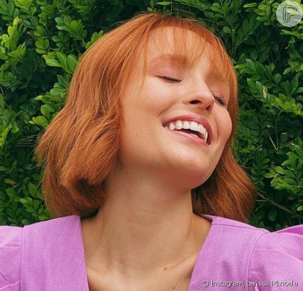 Larissa Manoela é dona de cabelos curtos e ruivos. Inspire-se!