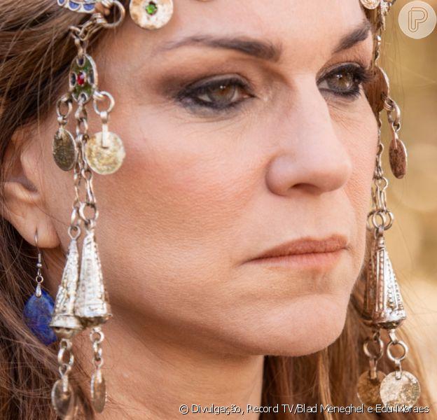 Novela 'Gênesis': Sara (Adriana Garambone) escapa de se casar com o faraó (André Ramiro) a partir do capítulo de segunda-feira, 19 de abril de 2021