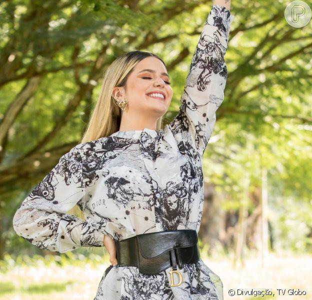 Eliminada, mas grifada! Viih Tube usa look Dior de R$ 15,4 mil no 'Mais Você'. Aos detalhes!