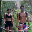 Bruna Marquezine e Enzo Celulari treinaram juntos com personal na semana passada