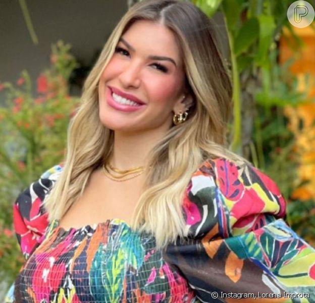 Lorena Improta, grávida pela primeira vez, notou crescimento dos seios: 'Estão saindo pela lateral'