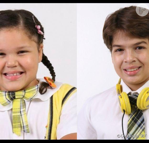Aysha Benelli e Lucas Santos, de 'Carrossel', gravam vídeos juntos e web brinca: 'Isso é tão romântico'