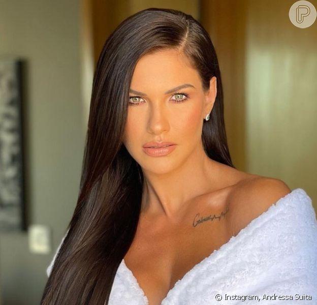Andressa Suita se vê com cabelo ruivo e cogita mudança de visual: 'Tô amando'