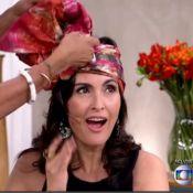Fátima Bernardes usa turbante no Dia da Consciência Negra: 'Me sinto mais jovem'