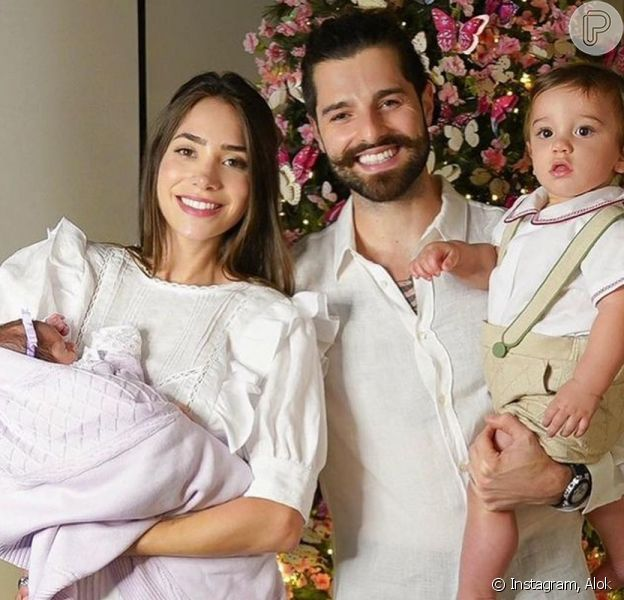 Romana Novais e Alok comemoraram com festa junina os 7 meses da filha, Raika