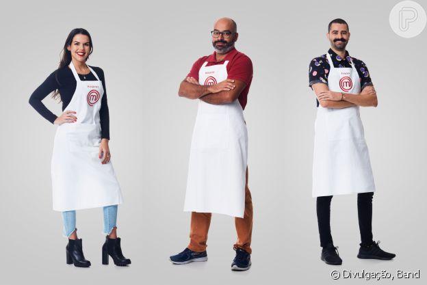 Masterchef 2021: Raquel, Renato e Tiago