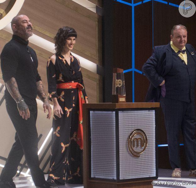 Helena Rizzo estreia no 'Masterchef' ao lado de Henrique Fogaça e Eric Jacquin nesta terça-feira, 06 de julho de 2021