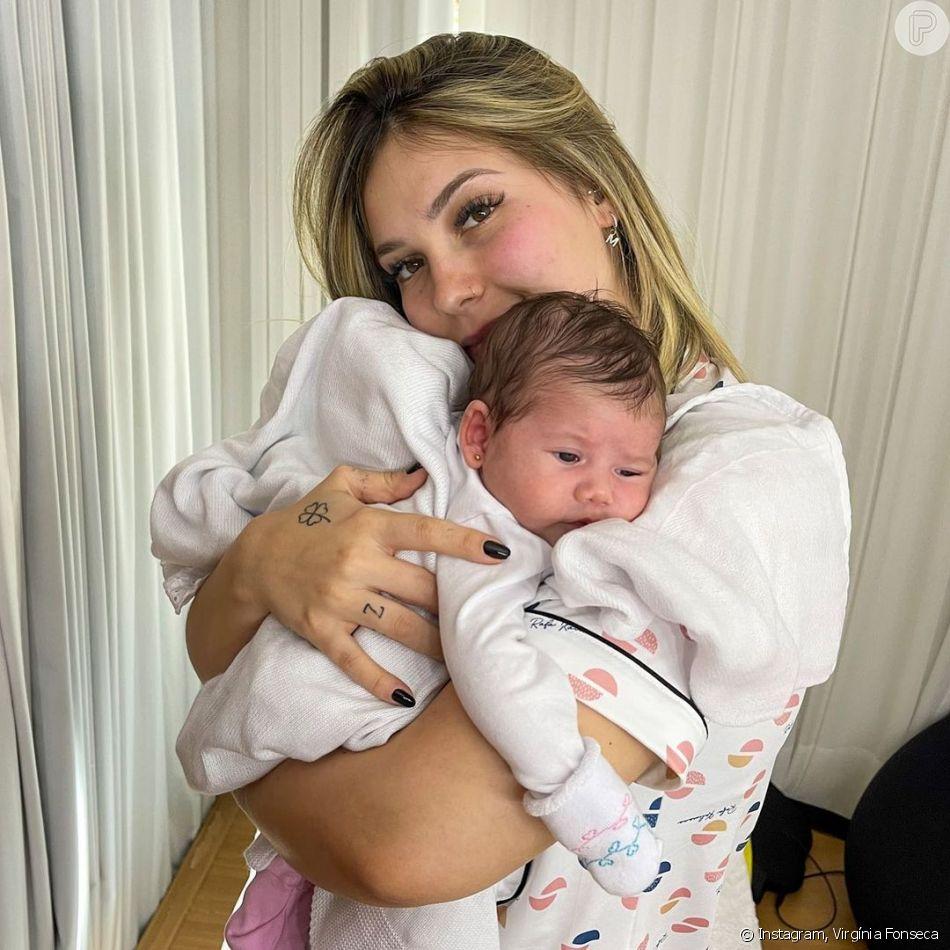 Filha de Virgínia Fonseca e Zé Felipe, Maria Alice tem pouco mais de 1 mês de vida
