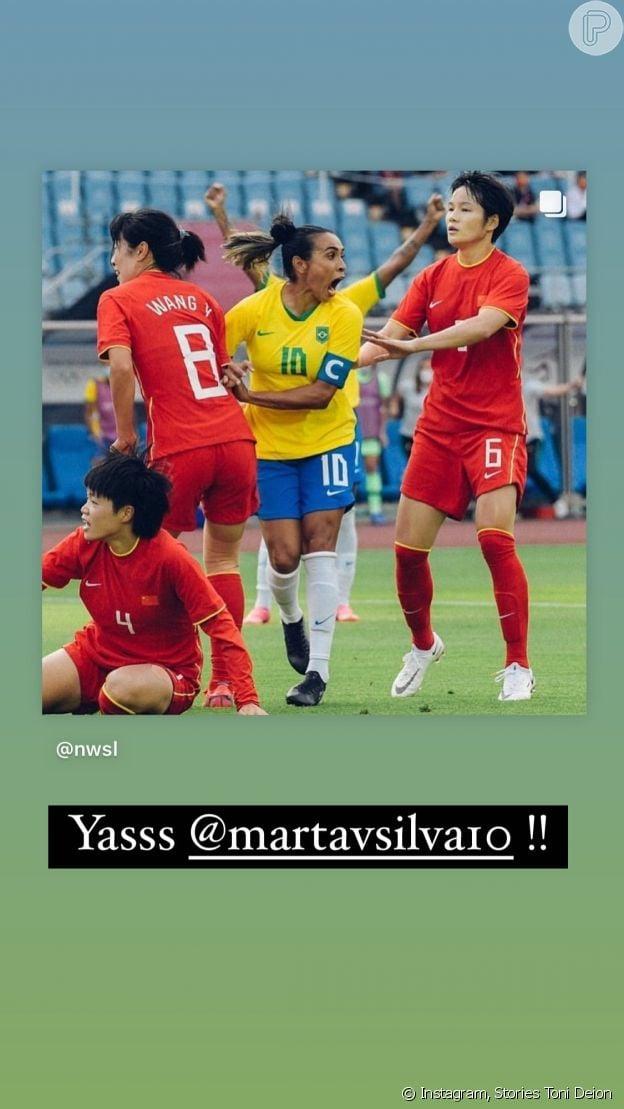 Toni comemorou vitória do Brasil nas redes sociais