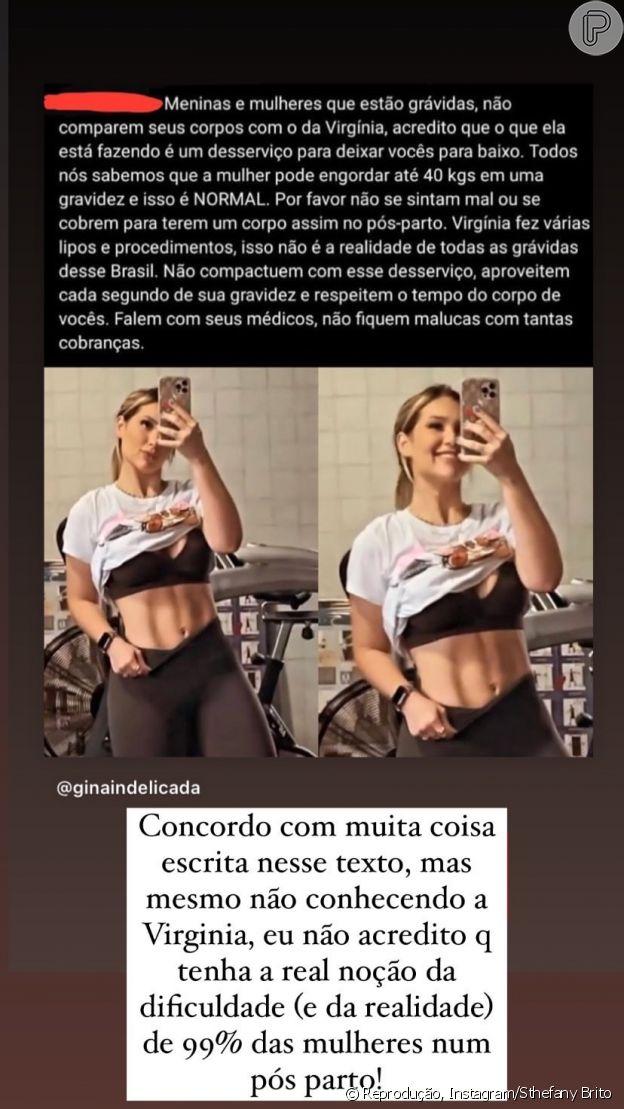 Sthefany Brito faz desabafo sobre repercussão de foto de Virgínia Fonseca