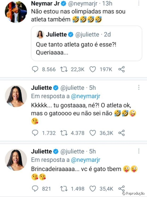 Ítalo Ferreira também flertou com Juliette no Twitter