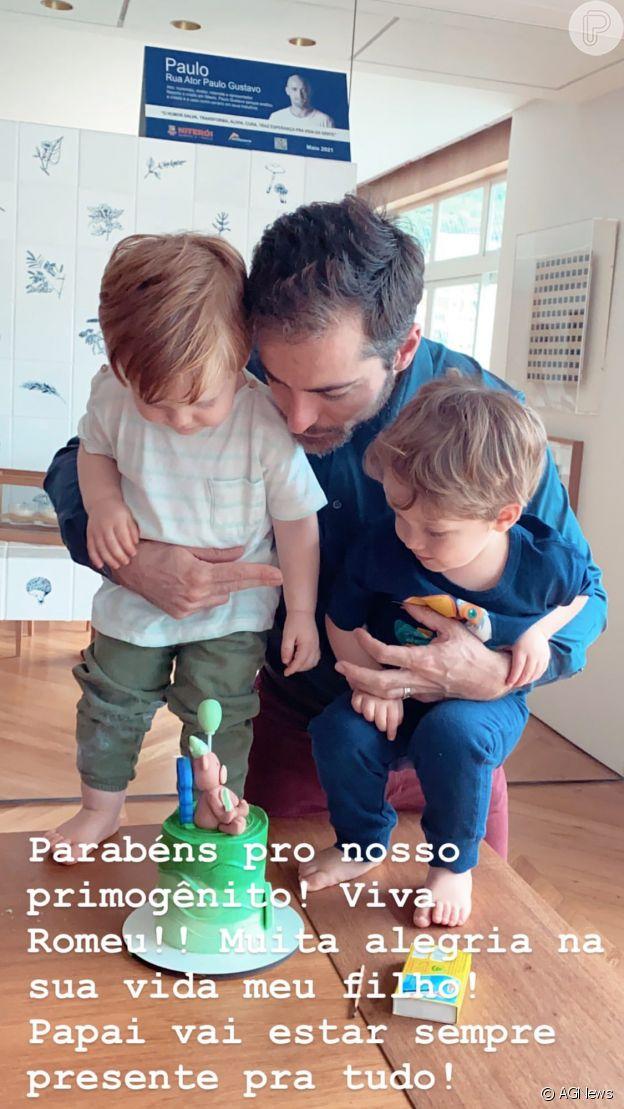 Thales Bretas festeja 2 anos do filho Romeu e detalhe sobre Paulo Gustavo se destaca. Vídeo!