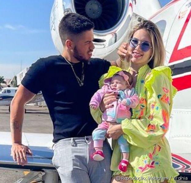 Virgínia viaja para o Rio de Janeiro com Zé Felipe e Maria Alice