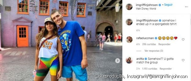 Anitta opina sobre look de TikToker apontado como affair durante passeio na Disney
