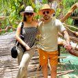 Marília Mendonça e Murilo Huff estão hospedados em um resort de luxo
