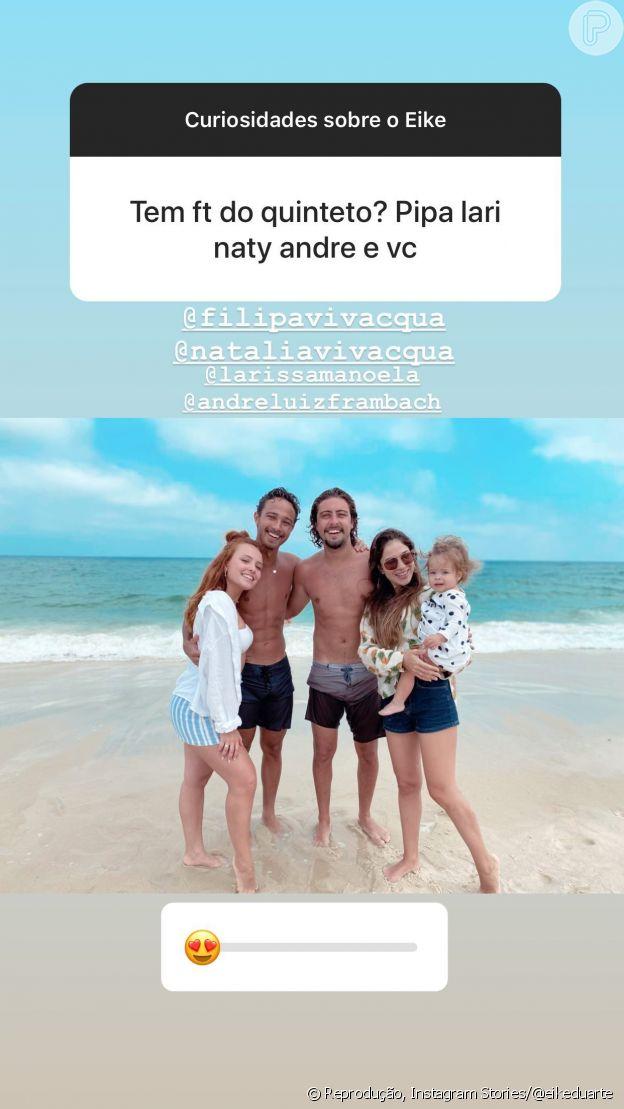 Larissa Manoela abraça André Luiz Frambach em nova foto com novo romance
