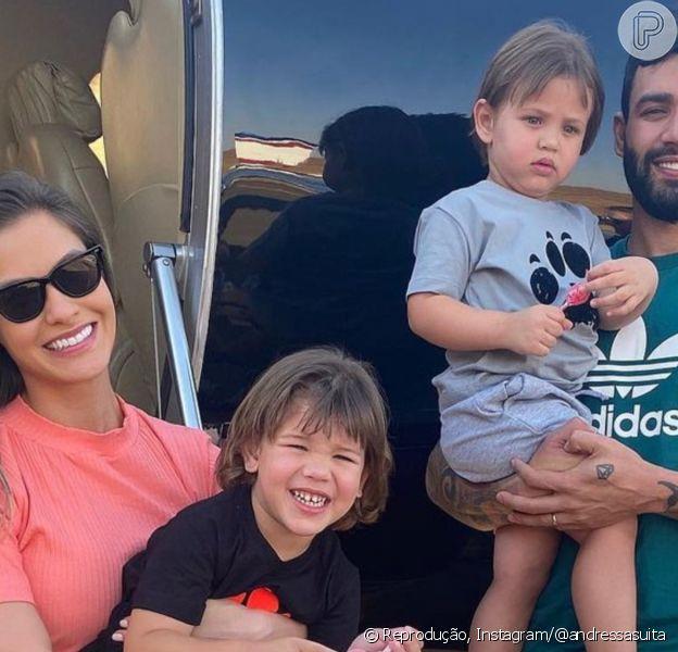 Andressa Suita afasta planos de 3º filho com Gusttavo Lima: 'Mas pode ser que Deus mude'