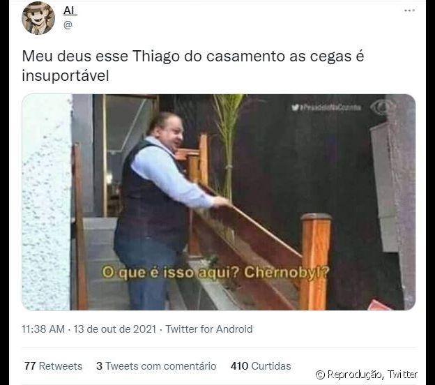 Público reprova atitudes de Thiago Rocha em 'Casamento às Cegas'