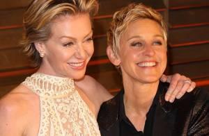 Ellen DeGeneres e a mulher, Portia de Rossi, completam 10 anos de relacionamento