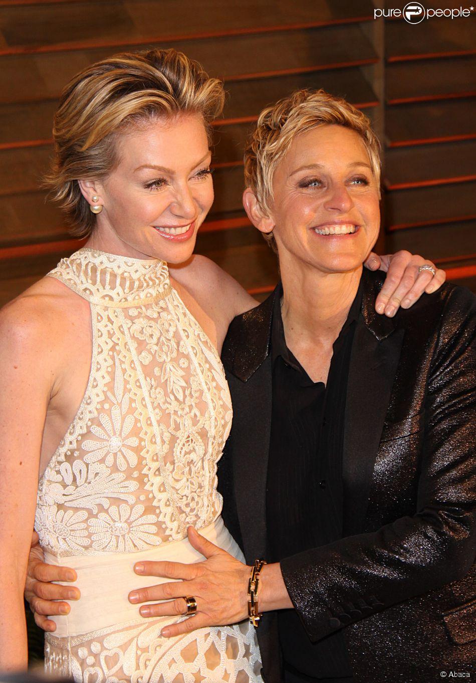 Ellen DeGeneres e a mulher, Portia de Rossi, completam 10 ...
