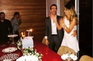 Ticiane Pinheiro comemora aniversário de Cesar Tralli com a família: 'Amado'