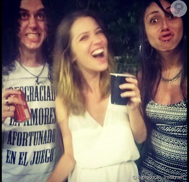 Nathalia Dill e Sergio Guizé passaram a virada do ano juntos na casa dele