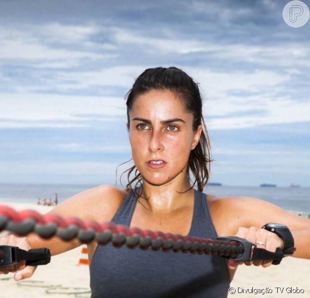 Carol Barcellos estreou o quadro 'Fôlego Máximo', no 'Esporte Espetacular', neste domingo, 31 de março de 2013
