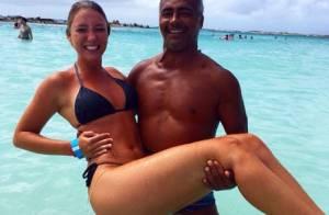 Romário e a namorada, a cantora Dixie Pratt, de 19 anos, curtem férias em Aruba