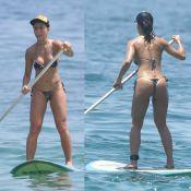 Sabrina Sato exibe boa forma com biquíni fio-dental em praia do Rio de Janeiro