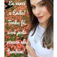 Fernanda Machado confirmou a gravidez na última quarta-feira, 14 de janeiro de 2015. Ela chegou a operar uma endometriose e corria o risco de não conseguir engravidar