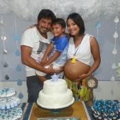 Grávida de 9 meses, Juliana Knust faz chá de bebê do 2º filho: 'Barriguda feliz'