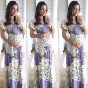 Fernanda Machado exibe barriguinha aos 5 meses de gestação: 'Look gravidinha'