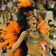 Paolla Oliveira foi rainha de bateria da Grande Rio no Carnaval de 2010
