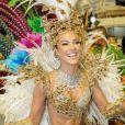 Paolla Oliveira estreou como rainha de bateria da Grande Rio no Carnaval de 2009