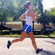 No início de 2014, a atriz já mantinha o hábito de correr cerca e 40 minutos por dia