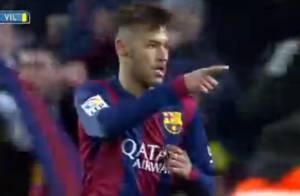 Neymar marca um gol na vitória de 3x2 do Barcelona sobre o Villarreal