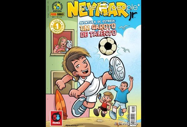 Neymar vira personagem de gibi criado por Maurício de Sousa, lançado em 18 de abril de 2013