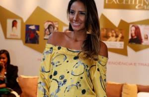 Grávida de Eike Batista, Flávia Sampaio exibe barriga de 7 meses no Fashion Rio