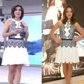Fátima Bernardes apresenta 'Encontro' com mesmo look usado por Bruna Marquezine