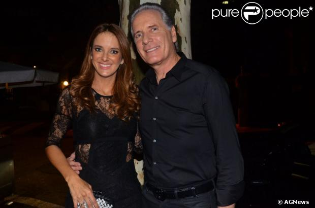 Ticiane Pinheiro e Roberto Justus posam durante evento em São Paulo