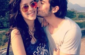Sophia Abrahão posta foto ganhando beijo carinhoso do namorado, Fiuk