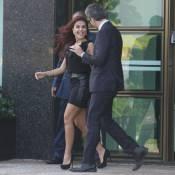Paloma Bernardi exibe pernas em gravação de 'Salve Jorge' com Otaviano Costa