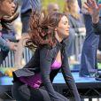 Megan Fox está com mechas ruivas no cabelo para filmar o remake de 'Tartarugas Ninja' em Nova York, Estados Unidos