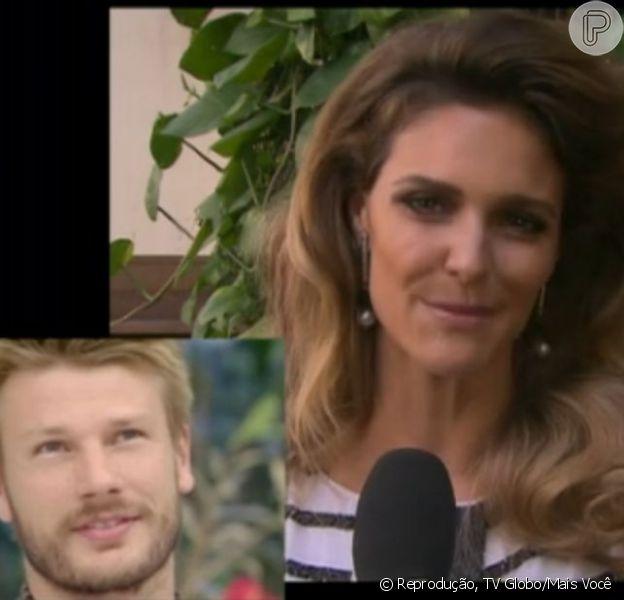 Rodrigo Hilbert ganha declaração de Fernanda Lima, durante participação no programa 'Mais Você, da TV Globo, em 10 de maio de 2013