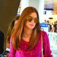 Voltando à TV em maio, na microssérie 'Amorteamo', a atriz desfilou com suas madeixas ruivas escovadas