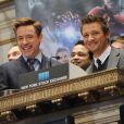 Robert Downey Jr. em ação promocional do filme 'Vingadores: Era de Ultron'